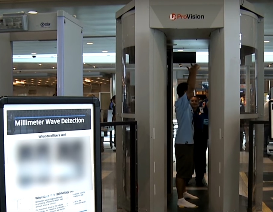 (Source: Transportation Security Administration, from http://www.tsa.gov/videos/travel-tips-advanced-imaging-technology)